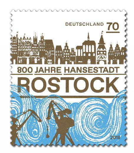 Rostock Münze Und Rostock Briefmarke Würdigen Stadtjubiläum News